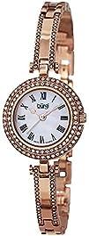 Burgi Womens BUR108RG Swiss Quartz Crystal Mother-of-Pearl