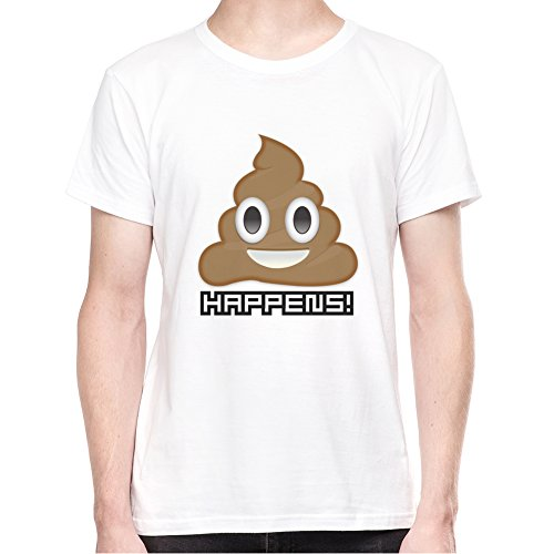 Shit Happens Emoji T-Shirt - Uomo - Small