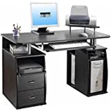 Techni Mobili Dual Pedestal Computer Desk Espresso