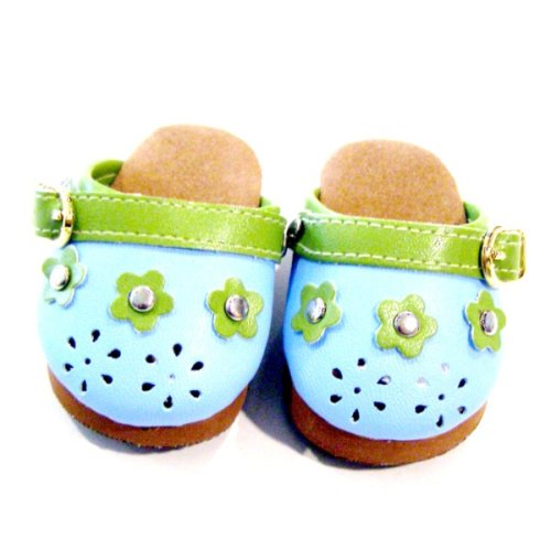 Buy American Girl Doll Clothes Blue Flower Clogs