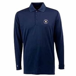 Houston Astros Long Sleeve Polo Shirt (Team Color) by Antigua