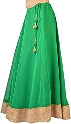 Ambitione Designer Women Green colored Skirt_L