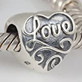 Love Hearts Authentic 925 Sterling Silver Bead Fits Pandora Chamilia Biagi Troll Charms Europen Style Bracelets