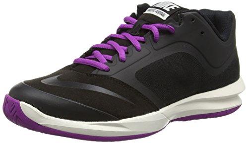 Nike Dual Fusion Ballistec Advantage - Scarpe da Tennis Donna, Nero (Black/Black/Phantom/Vivid Purple), 38 EU