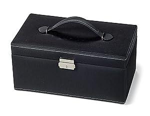 Gütermann 8937761 - Schmuckkoffer schwarz, 30x17x15, 5 cm, leer