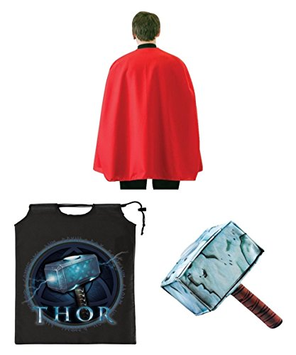 Marvel Superhero Thor Little Boys Hammer Cape Bag Halloween Costume Ki