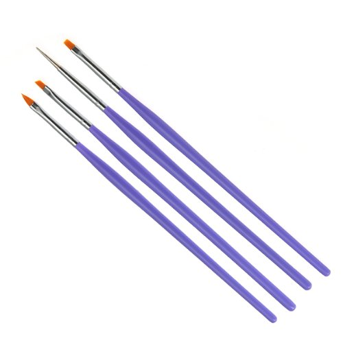 ジェル筆 ジェルネイル用 ジェルブラシ &斜めブラシと細めドットペンの4本セットで 3Dジェルにも最適