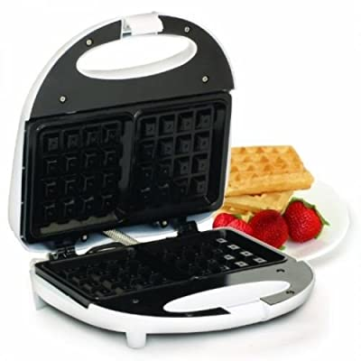 Maximatic Elite Cuisine Waffle Maker with Non-stick, White, Ewm-9008k, Belgian by Electric Waffle Irons