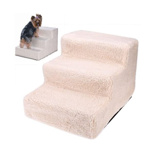 Ardisle Pet Stairs For Small Canine Cats Beige Carpeted