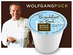 Wolfgang Puck Breakfast in Bed for Keurig Brewers, 24 K-Cups (Pack of 2) with 2 Organic Green Tea Bags