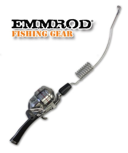 Emmrod 8 coil casting rod packer combo black handle for Compact fishing pole