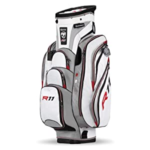 TaylorMade R11 Cart Bag, White Silver Black by TaylorMade