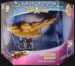 Star Trek Strike Force Cardassian Warship Toy with Action Figures