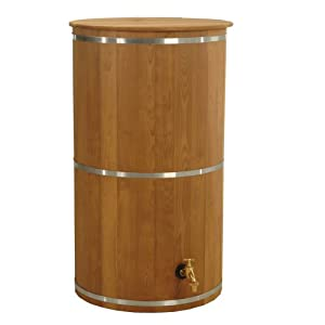 Exaco Trading ECO-67 Round 67 Gallon Wooden Rain Barrel
