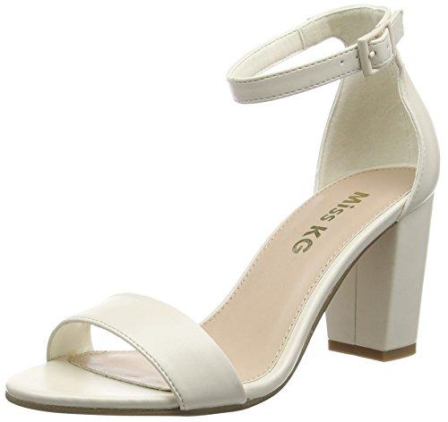 Miss KGPAIGE - Sandali  donna, Bianco (Bianco (White)), 40 EU (7 UK)