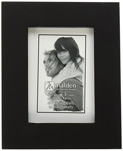 Malden International Designs Linear Classic Wood Picture Frame, Holds 6x8 Picture, Black (8x6 Picture Frame compare prices)