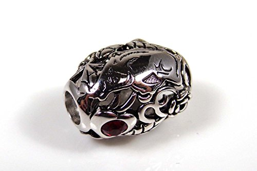 Arkansas Razorbacks Organic Style Sterling Silver Bead Fits Most European Style Charm Bracelets