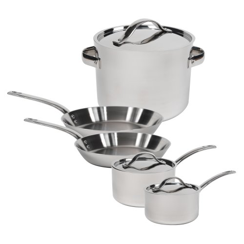 Gordon Ramsay by Royal Doulton Stainless-Steel 8-Piece Cookware Set