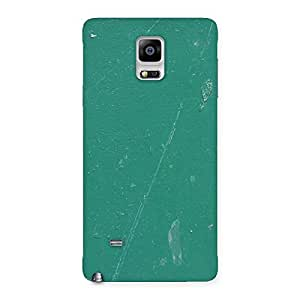 Green Paint Crack Print Back Case Cover for Galaxy Note 4
