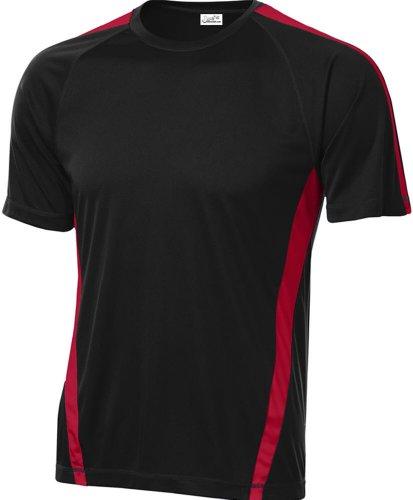 Joe's USA Men's Athletic All Sport Training T-Shirt ,Black/ True Red ,XX-Large