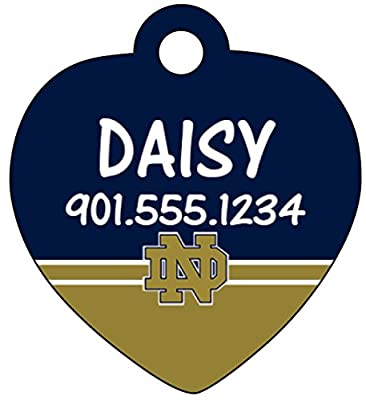 Notre Dame Fighting Irish Dog Tag Pet Id Tag Cat Tag Personalized w/ Name & Number