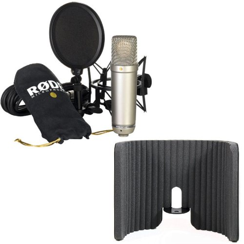 Rode Nt1-A Condenser Microphone With Primacoustic P300-0100 Voxguard Reflection Filter