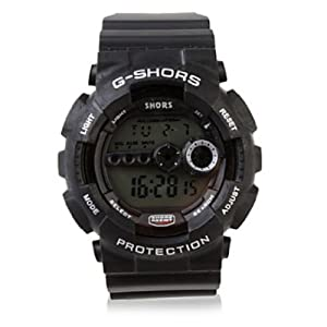 Soleasy Waterproof Sporty Single Movement Digital Stop Watch with Night Light Wth0368