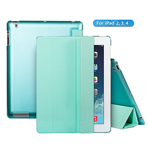iPad 2 case,iPad 3 case,iPad 4 case,Ants Tech Smart Wake-up and Sleep Function Stand Pedestal Screen Cover for Apple iPad 2 3 4 with Retina Display - Green (Chicken Ipad Mini Case compare prices)
