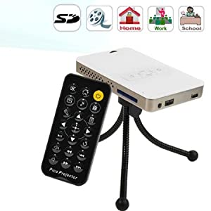Portable Multimedia Mini Projector Cinema for Pc Laptop Dv Camera Sd w/ Mini Tripod