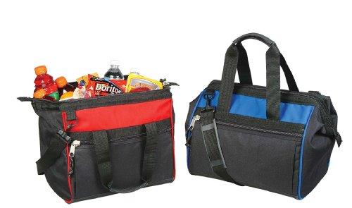 """14"""" Medium Cooler Bag W/ Shoulder Strap In Red front-48034"""