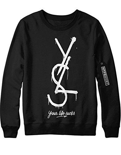 sweatshirt-yls-your-life-sucks-h989920-schwarz-m