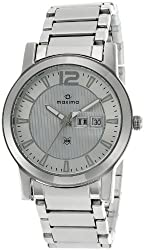 Maxima Attivo Analog Silver Dial Mens Watch - 24902CMGI