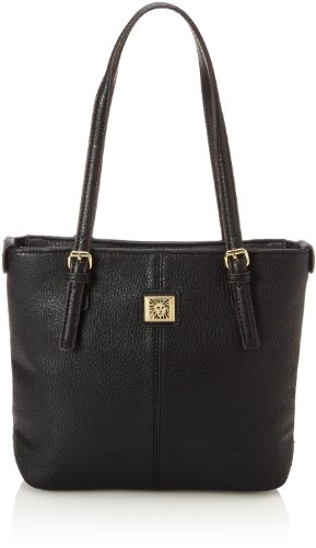 Anne Klein Perfect Small AA-0019459AA Tote Handbag,Black,One Size