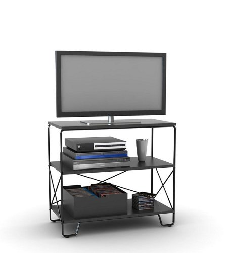 Cheap Flat Panel LCD TV Stand with 3 Tier Black Shelves (AZ00-49036×21339)