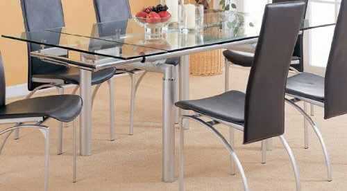 extension dining room table | GLASS EXTENSION DINING TABLE | GLASS EXTENSION DINING TABLE