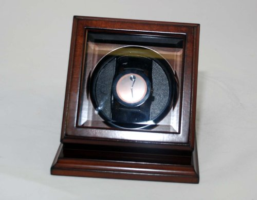 New Automatic Watch Winder Rotater Box Wood Finish