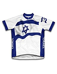Israel Flag Short Sleeve Cycling Jersey for Women