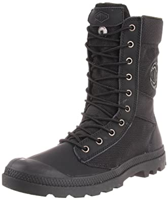 Palladium Men's Pampa Tactical Boot,Black/Metal,7 M US