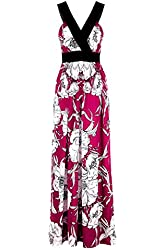 G2 Chic Women's Exotic Printed Patterned Maxi Dress