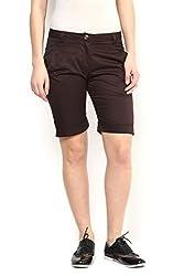 Knee Length Brown Summer Shorts