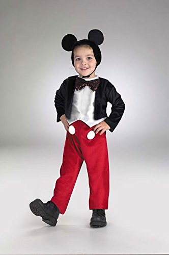 Baby Boys - Mickey Mouse Deluxe Toddler Costume 3T To 4T Halloween