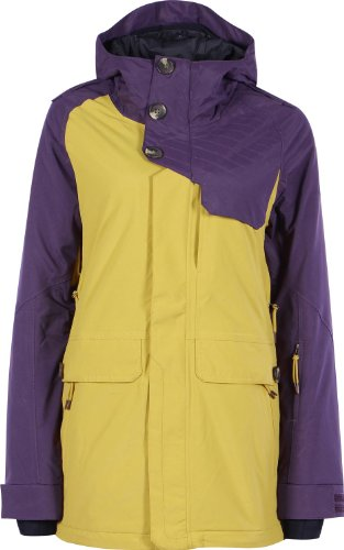 Zimtstern Damen Jacket Snow Richon, aubergine/honey, L, 7720203455605