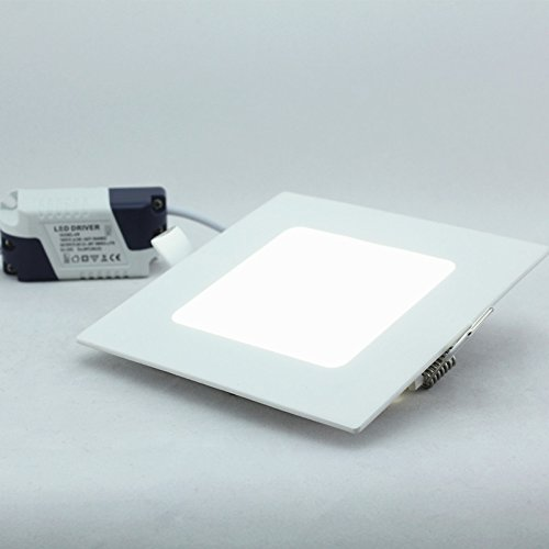 Twopages 6W 480Lm Square Panel Downlight, Mount Hole 105*105Mm, 100~240V Input