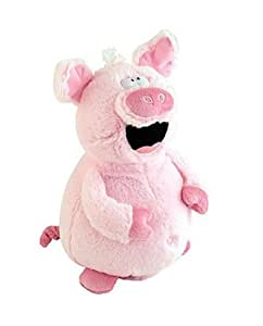 "Laughing ""Belly Buster"" Animated Animal Novelty Plush Toy (Pink Pig)"