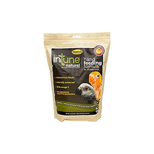 Higgins InTune Natural Hand Feeding Formula for All Baby Birds, 5 lbs.
