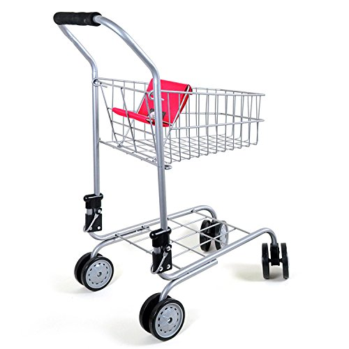 Toy-shopping-cart-for-kids-and-toddler-Pretend-Play-Folds-for-Storage-Metal-Frame-Discontinued-by-manufacturer