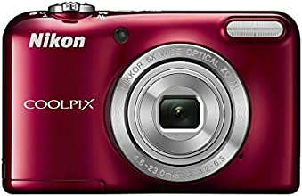 Nikon Coolpix L31 Digitalkamera (16 Megapixel, 5-fach opt. Zoom, 6,7 cm (2,6 Zoll) Display, HD-Video) rot
