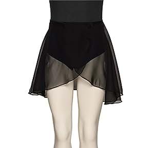 "Girls RAD Georgette Dance Ballet Skirt All Sizes And Colours KDGS03 By Katz Dancewear (Black, Waist 28"")"