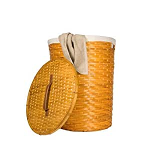 Bamboo tall laundry basket