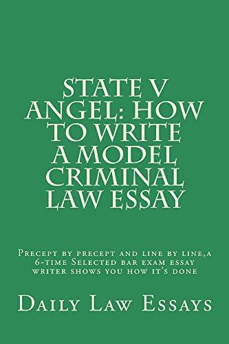 model law essay Model criminal law essay - murder  recommended law school e-book: e book, how to pass a law school murder essay exam ebook: lana law books, ogidi law books.